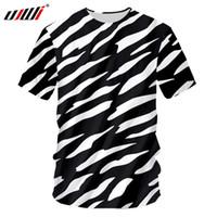 zebra baskı tee toptan satış-Yeni 3D Zebra Stripes Man O Boyun Tişört Baskılı Erkek Gotik Tee Gömlek Sıcak Satış Unisex Tişört Tavsiye