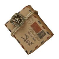 ingrosso carta da imballaggio di natale di cartone animato-Mini sacchetto di imballaggio della scatola di carta della mini carta kraft con gli accessori della tela da imballaggio terra / bussola Favori di cerimonia nuziale