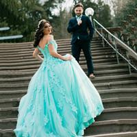 33fc0ebde03 Wholesale ball gown dresses for sale - Off Shoulder Quinceanera Ball Gown  Princess Evening Dresses Lace