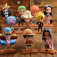 Wholesale one piece figure cartoon resale online - Anime Doll ONE PIECE Toys PVC Luffy Zoro Movies Video Game Cartoon Action Figures fc F1