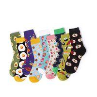 32735e9ccf6e sock donut 2019 - Women 3D Fruit Cotton Socks Slippers Unisex High Hosiery  Sock Avocado Apple