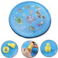 ingrosso tappetini da gioco per bambini esterni-Diametro 170cm Splash Play Mat Outdoor Sprinkler pad per bambini Neonati Toddlers Bambini Nuoto Anelli