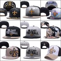 ingrosso maglia a snapback-2019 New Orleans Cappelli regolabili Saints Embroidery Team Logo Snapback Tutti i team Wholeasle Knit Beanies Caps One Size