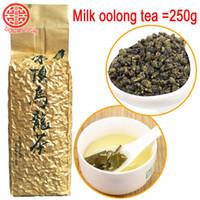 Wholesale oolong tea weight loss resale online - 250g Milk Oolong Tea Beauty Weight loss Lowering Blood Pressure High Mountains JinXuan Milk Oolong Tea Chinese Taiwan Fresh Green Tea