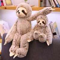 Wholesale plush heart doll for sale - Group buy 2019 New Soft Adorable Sloth Doll Girl Heart Plush Family Pillow That Looks Lazy