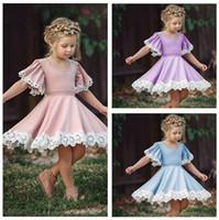 Wholesale Baby Clothes Girls Lace Pageant Dresses Summer Princess Dresses Kids Dance Pleated Dresse Child Tutu A Line Dress Fashion Boutique D67