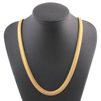 Wholesale bone links gold chain for sale - Group buy Yellow Gold Necklaces Twist Ornaments Bone Snake Chain Necklace mm inch For Men Women Jewelries Flawlessc Pendientes Torque