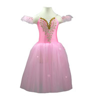Wholesale spandex fairy costume for sale - Children Romantic Professional Ballet Tutu Costume Modern Dance Fairy Long Tulle Dress Show Dance Child Girl Ballet Mujer Kids
