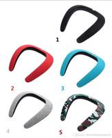 usb spdif achat en gros de-Bavoir sans fil haut-parleur Bluetooth mini-carte créative portable pour le cou, audio de sport, fitness en plein air haut-parleur Bluetooth subwoofer