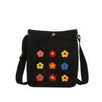 trendy tuval toptan çantalar toptan satış-Xiniu Kadınlar Moda Tuval Katı Sikke çanta Omuz Tote Çanta Rahat Çanta Trendy lüks Bolsa de ombro das mulheres Sıcak # 30