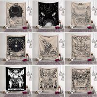 decoração afortunada venda por atacado-Tapeçaria tapeçaria sorte tarot medieval adivinhação toalha de praia xale boêmio yoga tapete toalha de mesa de poliéster tapeçaria home decor