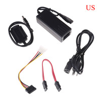 Wholesale ide ata hdd resale online - 1 Set USB to IDE SATA S ATA quot quot HD HDD Hard Drive Adapter Converter Power Cable US EU Plug Plug and play