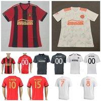 21d3e3417 Atlanta United FC Men Red Home White Soccer Jersey Miguel Almiron Josef  Martinez Ezequiel Barco Hector Villalba Football Shirt Kit Uniform