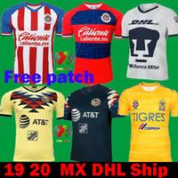 tiger-fußball-trikots großhandel-DHL Versand 2020 Mexiko Liga MX CHIVAS Guadalajara Club Amerika UNAM TIGRES 2019 Fußball Trikots 19 20 cruz azul dritten Auswärtsfußball Trikots