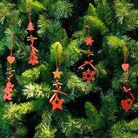 xmas zil süsleri toptan satış-Rüzgar Çanları Noel Ağacı Süsler Kar Tanesi Kalp Yıldız Çan Noel Kolye Kolye Parti Ev Noel Dekor Navidad Dekorasyon
