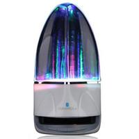 alto-falantes de música venda por atacado-Música portátil Speaker Fountain Luzes Coloridas Computador Subwoofer Falante Moda Água Carambola Criativo de Áudio Do Telefone Móvel 4 de Áudio