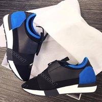 bayan rahat ayakkabılar toptan satış-Çift Kutu Yeni Stil Casual Ayakkabı Mans Kadın Sneaker Moda Patchwork Mesh Turuncu Mavi Tan yarışı Koşucular Chaussures Tasarımcı Ayakkabı Boyut 35-46