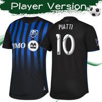 монтреаль черный трикотаж оптовых-Версия игрока MLS 2019 Montreal Impact футболки для дома Футболки высшего качества Футболки Montreal home black Uniforms