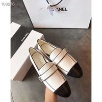 Wholesale b blocks resale online - High Quality Single Flat Casual Shoes Summer korean style New style Baotou low heel flat sole color blocking Lefu shoes
