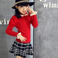 koreanische kinder mädchen wolle groihandel-Mädchen-Kind-koreanische Frauen-Strickjacke-lange Hülsen-Allgleiches Kinderkleidung 5 Art Woolen