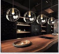 mesa de jantar iluminada venda por atacado-Restaurante moderno três cabeças de cristal criativo sala de jantar bar luz da mesa simples led ferro arte lustre de jantar