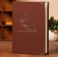 niedliche hochzeit handwerk großhandel-200 Blatt Familienspeicher Seite einfügen Bild Speicher Geschenke Handwerk DIY Home Praktische Hochzeit Fotoalbum Papier Cute Graduation