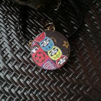 roségold überzogene kugelkette großhandel-2019 Neueste Schlüsselbund Accessoires Design Edelstahl Schlüsselbund für Weom Leder Huhn Muster Auto Schlüsselbund Tasche Zubehör 8 Stil