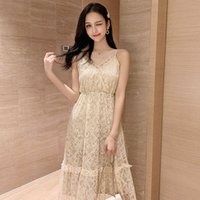 Wholesale gentle dress online - New Amazonian style suspender dress with retro lace dress and gentle wind fairy dress for summer in