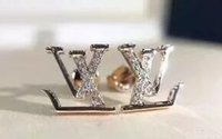 diamante brincos jóias venda por atacado-Brincos de grife Jóias de luxo Moda feminina Mens Brincos Hip Hop brincos de diamante Iced Out Bling CZ Rock Punk Rodada presente de casamento 366
