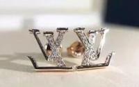 dientes de resina acrílica al por mayor-Pendientes de diseño Joyas de lujo Moda Mujer Pendientes para hombre Pendientes de diamantes Hip Hop Pendientes Iced Out Bling CZ Rock Punk Regalo de boda redondo 366