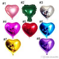 Wholesale 8 styles inch Heart Shape Aluminum Foil Balloon Wedding Decoration Party Supplies helium balloon