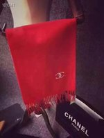 bufandas de marca de china al por mayor-Bufanda de la cachemira de la marca de moda de lujo de invierno 2019 China bordado borla larga de la letra bufandas largas