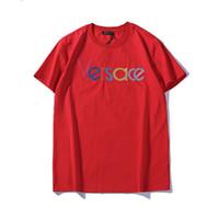 renkli nakışlar toptan satış-Erkek Tasarımcı Marka T Gömlek Medusa Renkli Harfler Nakış Gömlek Asya Boyutu S-2XL