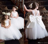 9c8a7aed1 Cute Communion Dresses Pageant Dresses for Little Girls Cheap White Lace Flower  Girl Dresses with New Designed Appliques Straps. Supplier: gama