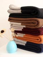 colcha cinza amarelo venda por atacado-New !!!! Fast Shipping Melhor Quailty Luxo H Thicken 100 Cashmere Blanket casa ao ar livre cachecol xale quentes Cobertores diários Grande tamanho 140,170 centímetros