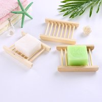 Wholesale bamboo wooden boxes resale online - Natural Bamboo Wooden Soap Dishes Wooden Soap Tray Holder Storage Rack Plate Box Container for Bath Soap Dishes CCA11488
