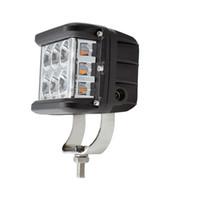 nebelscheinwerfer für boote groihandel-1 Stücke Strobe 60 Watt LED Arbeitslicht 12 V Side Shots 4 inch Pod Spot Lampe Flash für Jeep ATV Lkw Boot Auto Driving Nebelscheinwerfer