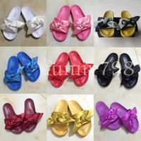 234360728011 Wholesale fur flip flops for sale - 2019 Designer fashion Beach Slide  Sandals Rihanna fur Slippers