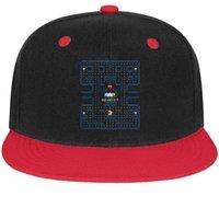 tops de algodon de imagenes al por mayor-Pac-Man images logo Unisex Hombre Sombreros Mujer Sombreros Retro Algodón Snapback Flatbrim Top Hat Gorra de béisbol para hombres