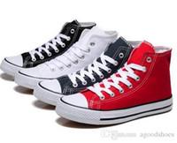 estilos de zapatos al por mayor-Envío gratis 2019 Size35-45 Low High top zapatos casuales estilo estrellas del deporte chuck zapatillas de lona clásicas zapatillas de deporte conve hombres mujeres zapatos de lona