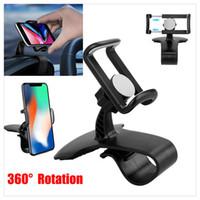 мобильный стенд универсальный оптовых-Автомобильный кронштейн для крепления на приборной панели HUD для универсального мобильного сотового телефона GPS с поворотом на 360 градусов