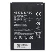 bateria de iões de lítio telemóvel venda por atacado-Lithium-ion bateria do telefone móvel HB476387RBC 3000mAh para Huawei glória 3X G750-T01 / T00 B199