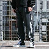 ingrosso pantalone di sudore baggy-WP 2019 Hip Hip Jogger Pant Pantaloni Harajuku Baggy Sweatpant Streetwear Red Stripe Pantaloni Track Pantaloni Ankle Pantaloni Primavera Harem Pant