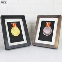 Wholesale three picture frame resale online - DIY Three Dimensional Frame Photo Frame Model Display Pictures Frames Medal Mobile Phone Framed Specimen No Include Model