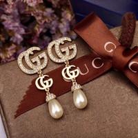nadel für perle großhandel-Frau Perlenohrringe, elegant und schön, super heiß, wie man Mode trägt, wie man Nadel aus 925-Sterlingsilber trägt, lange Perlenohrstecker