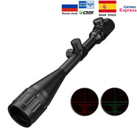 ingrosso luci di portata del fucile-6-24x50 Aoe Riflescope Regolabile Verde Rosso Dot Caccia Light Tactical Scope Reticle Optical Rifle ScopeT190724