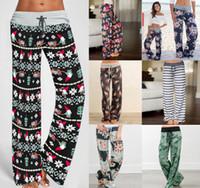 pantalones harem casual mujer al por mayor-Yoga floral de las mujeres Pantalones Palazzo 38 Estilos de verano pantalones de pierna ancha floja Deporte Harem flojo Boho pantalones largos OOA5197