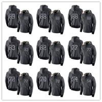 koyu gri hoodie toptan satış-Erkek NCAA Dallas Cowboys # 21 Ezekiel Elliott sonbahar kış yeni koyu gri kazak sürümüne spor trend tasarımı Hoodies