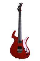 floyd rose para guitarras al por mayor-Guitarra China Fly Mojo Transparente Rojo cereza Guitarra Eléctrica Floyd Rose Tremolo Tailpie
