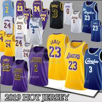 jersey bryant venda por atacado-NCAA 23 James 3 Davis 23 jerseys LeBron Bryant 24 Kobe 14 Ingram 0 Kuzma 2 Kyle jersey 2019 maillots Top de basketall
